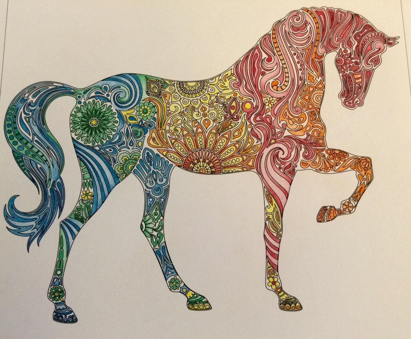 Coloring books to destress - Amazon Com Vive Le Color Horses Adult Coloring Book Color