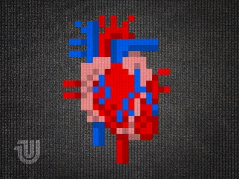 Heart Of Pixels Pixel Art Illustration Artwork Drawing Heart Illustration