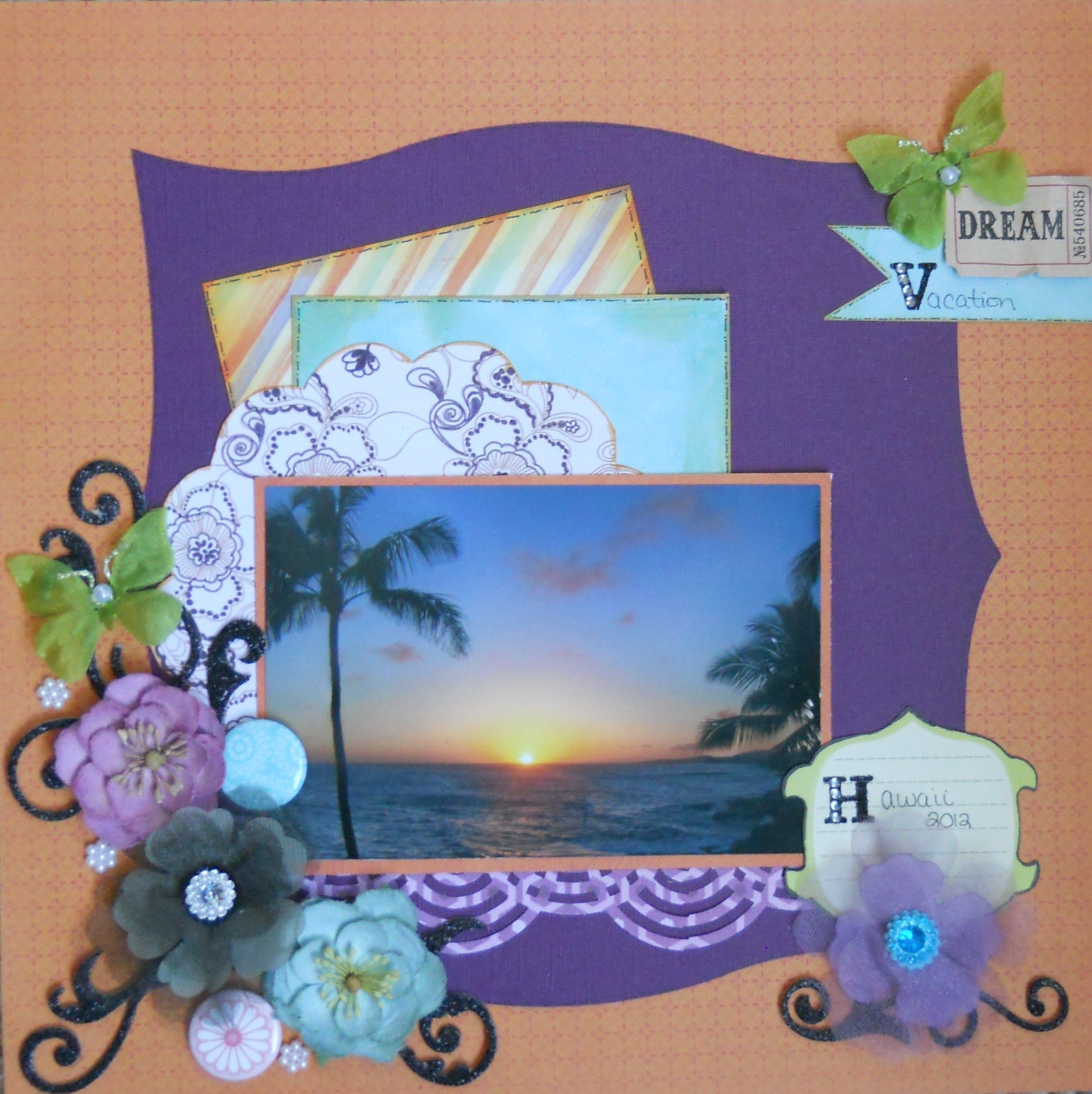 Scrapbook ideas hawaii - Dream Vacation Hawaii Scrapbook Com