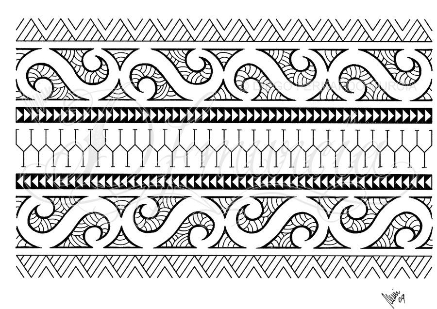 polynesian armband 01 by dfmurcia on deviantart paper hand drawn patterns pinterest. Black Bedroom Furniture Sets. Home Design Ideas