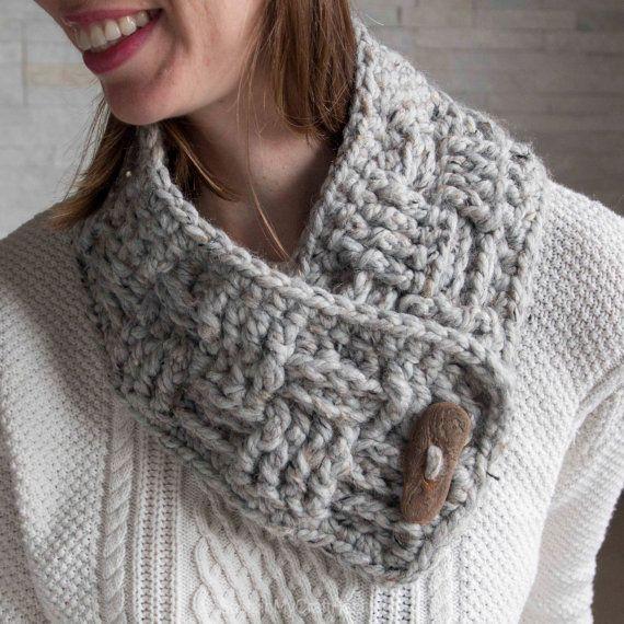 Pattern: Crochet Basketweave Winter Scarf- Instant Download ...