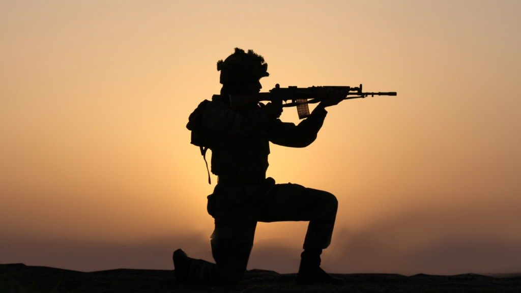 Indian Army Wallpaper with Soldier in Silhouette Indian