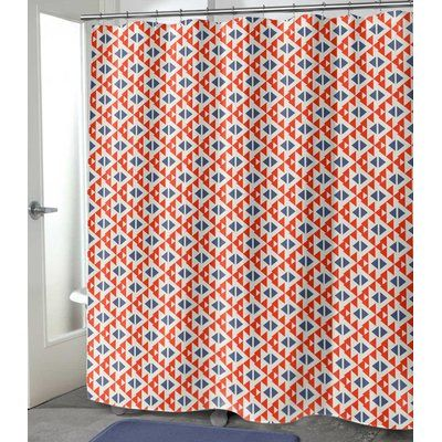 Bloomsbury Market Denning Single Shower Curtain Size 90 H X 70 W Shower Curtain Sizes Striped Shower Curtains Curtains