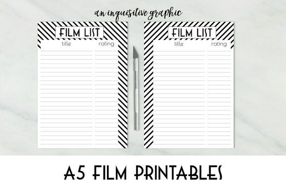 Film List Printable Movie Watch List Di Aninquisitivegraphic