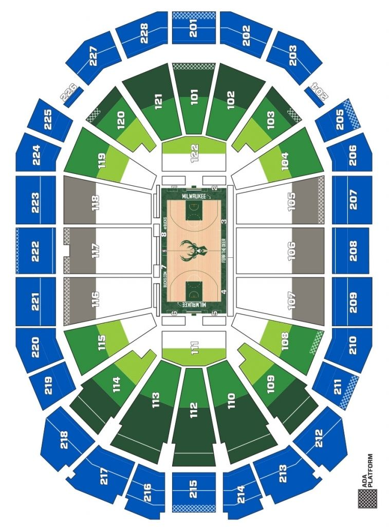 milwaukee bucks seating chart in 2020 Seating charts