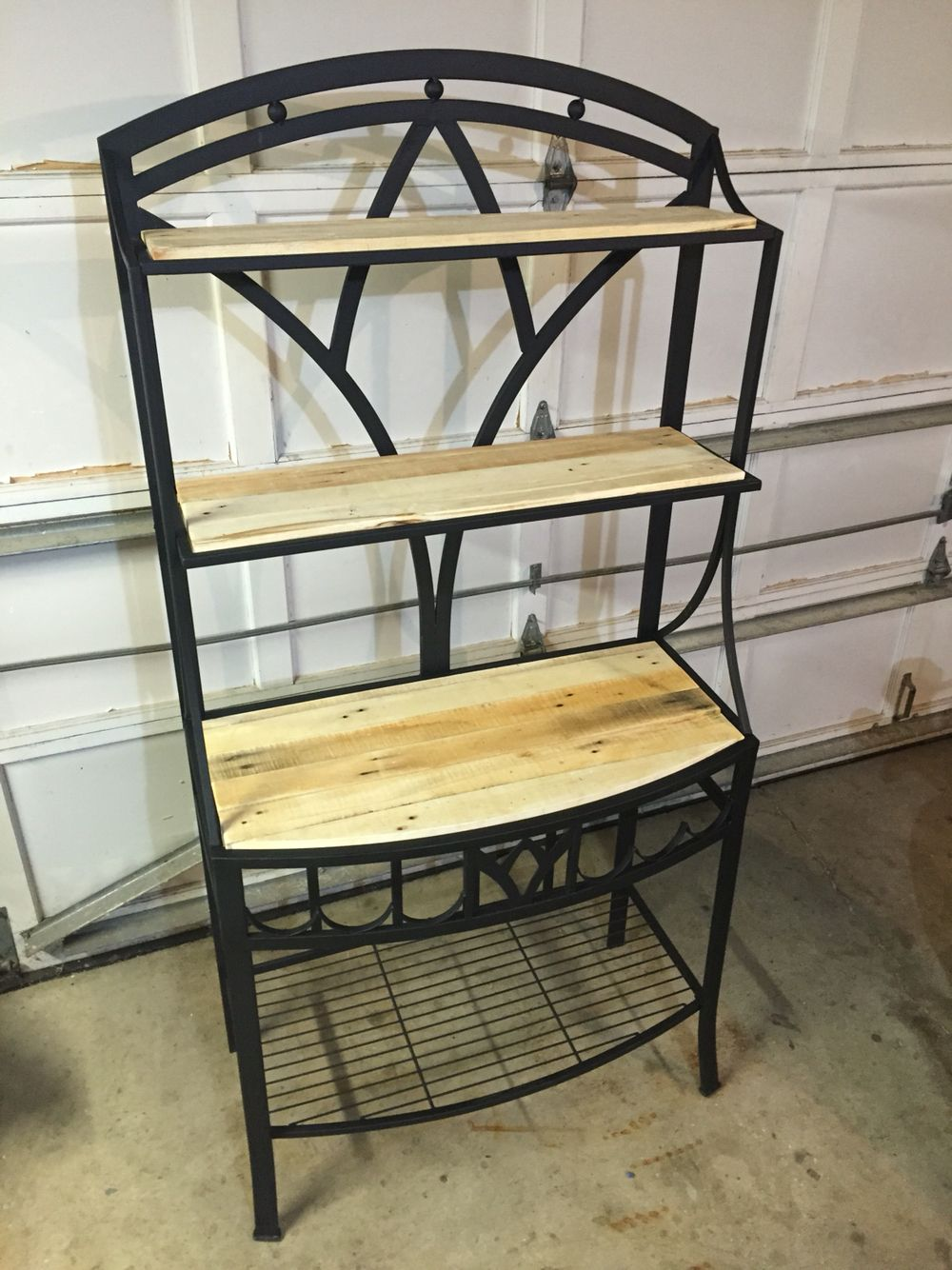 Upcycled Bakers Rack I Turned The Broken Glass Shelves Into Some