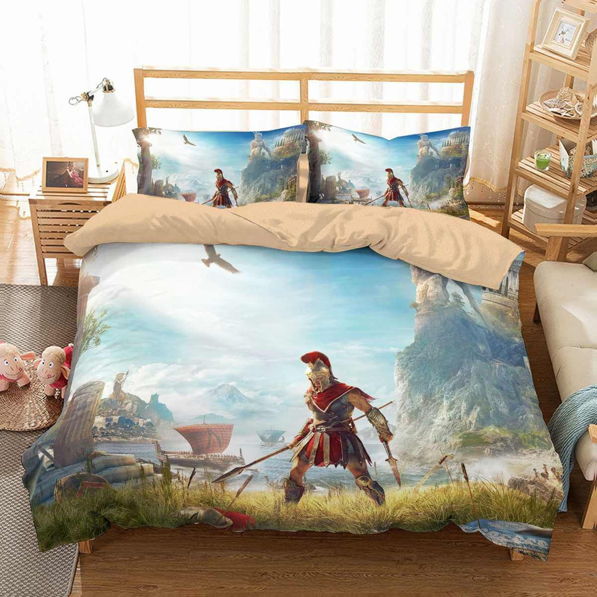 3d Customize Assassin S Creed Odyssey Bedding Set Duvet Cover Set
