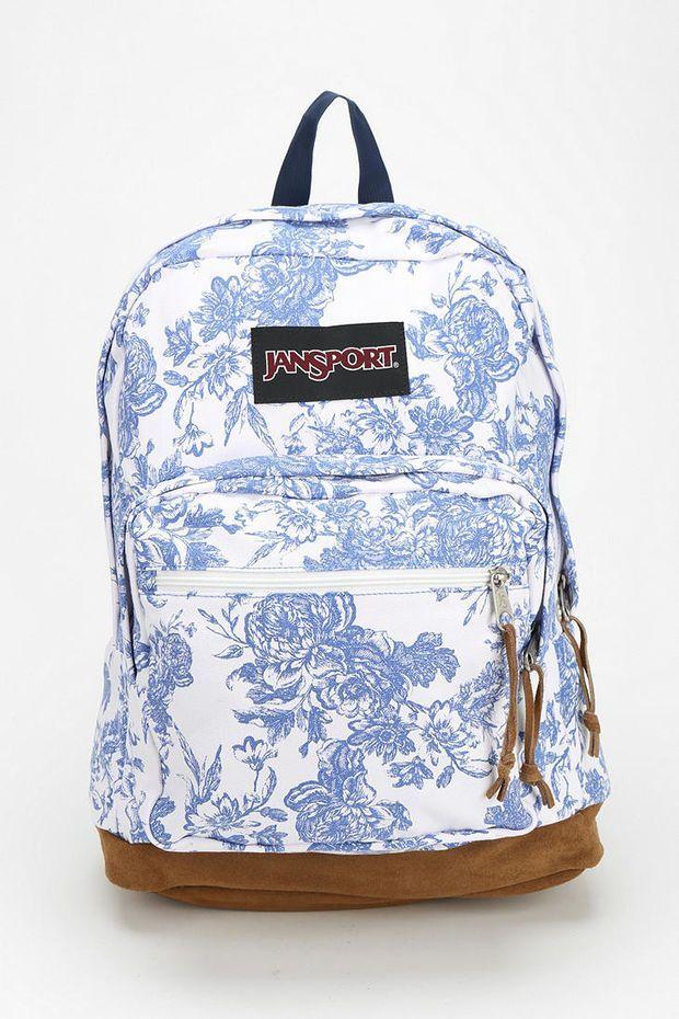 Jansport Backpack Superbreak black// white BEB School Book Bag