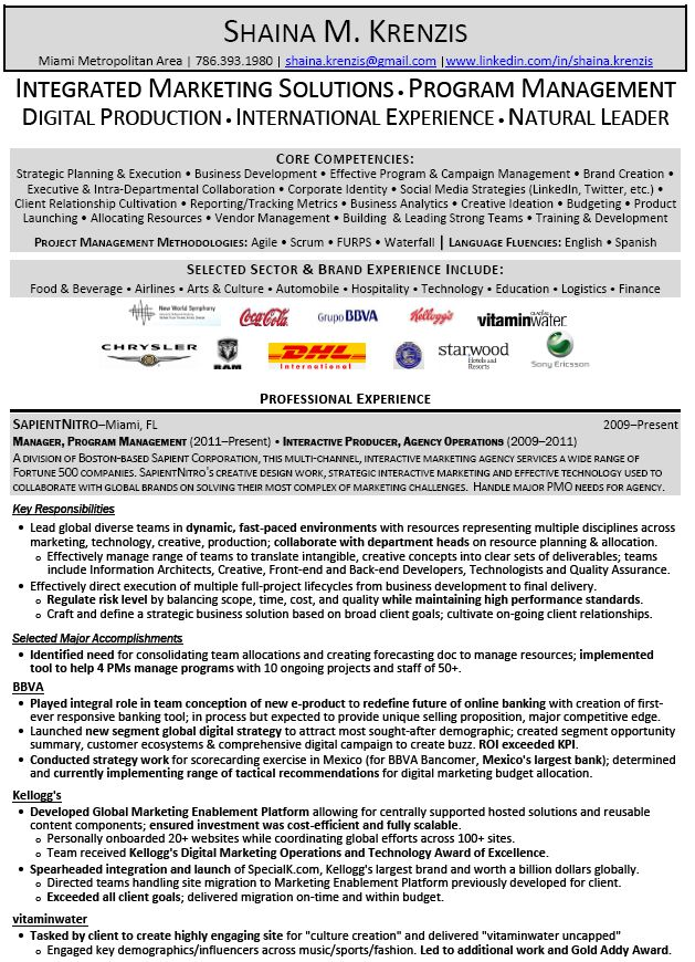 Marketing Manager Resume Example Executive Summary Home Improvement