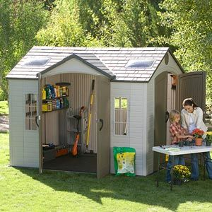 Charming This Shed Would Make A Great Playhouse For Evie. Plastic ShedsPlastic  Storage ...