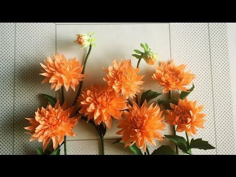 The Dahlia Genus Dahlia Is The National Flower Of Mexico Known For Its Continuous Colorful Flowers T Paper Flowers Paper Flowers Craft Paper Flower Tutorial