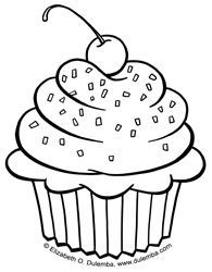 º Dibujos Para Colorear º Dibujos De Cupcakes