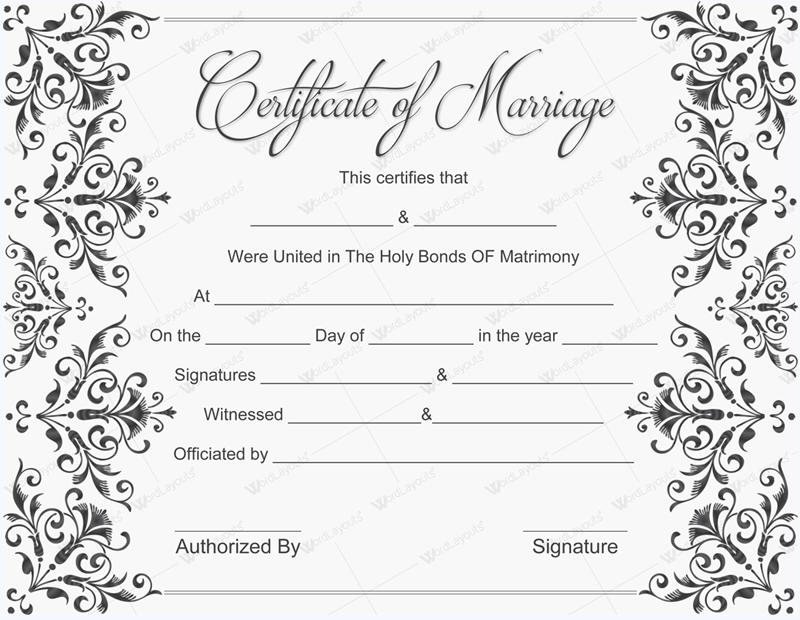 marriage certificate printable blank certificates license template fake templates example fancy invitations baptism certification luscious maker form slobbery crafty smithchavezlaw