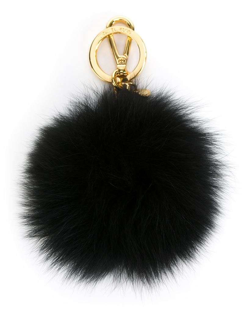 90fb28d169d3 Black rabbit fur pom-pom keyring from Michael Michael Kors ...