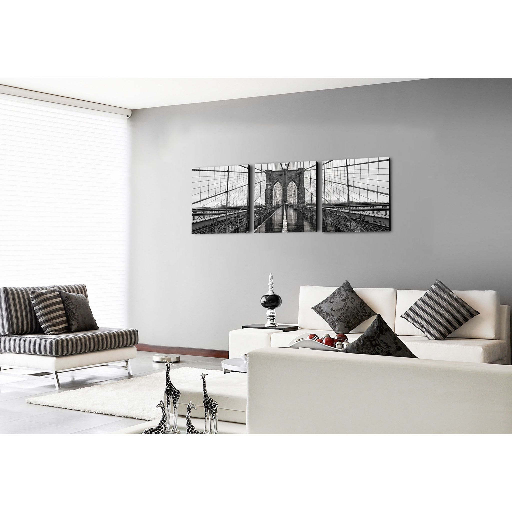 Furinno Senic \'Brooklyn Bridge\' Canvas on Wood 60-inch x 20-inch 3 ...