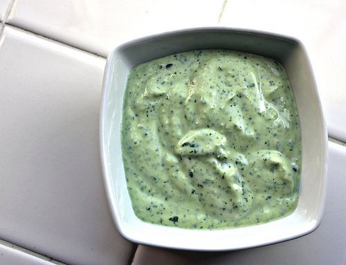 cilantro lime sauce 1 ½ cups plain greek yogurt 2 cloves garlic ¾ cup cilantro Lime juice Cayenne pepper (to taste) Salt (to taste) Place all ingredients into your food processor and blend, add cayenne pepper to your spice love level.