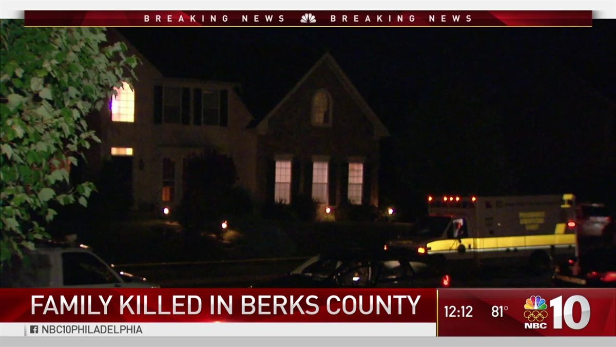 Parents and their three small children found dead in their Berks