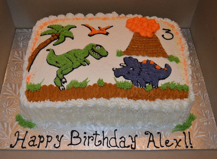 In The Land Of The Dinosaurs Dinosaur Birthday Cakes