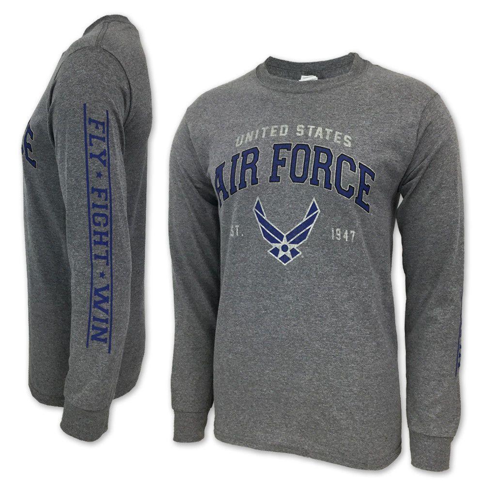 Air force wings est. 1947 long sleeve tshirt (grey) Air