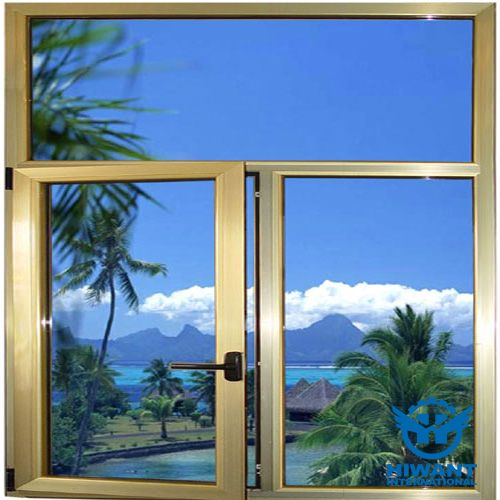 Champagne Golden Color Electrophoresis Aluminium Profile For Casement Windows Aluminium Windows And Doors Casement Windows Windows