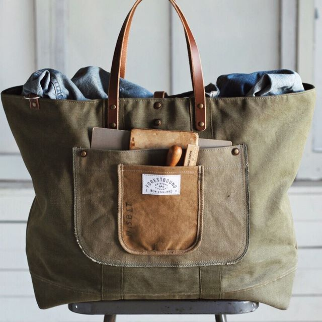 Forestbound Bags - made from WWII era textiles