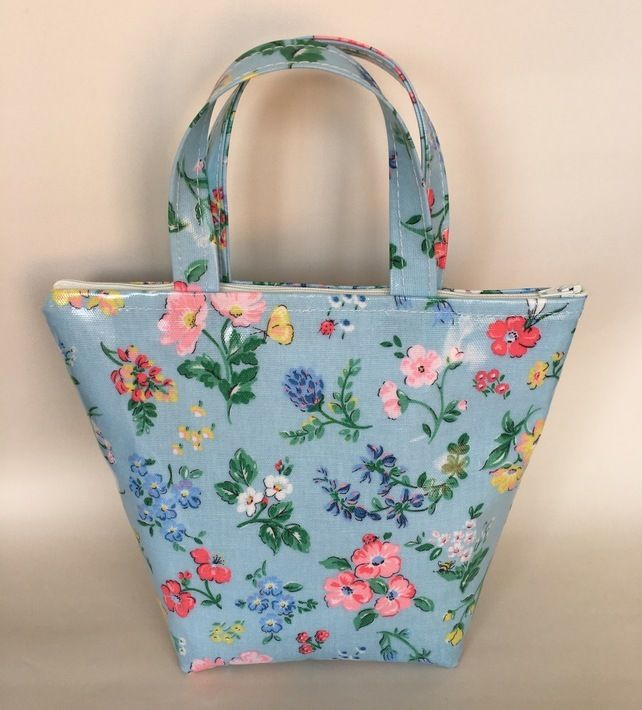 Handmade Cath Kidston insulated lunchbag in meadow oilcloth £13.99 ...