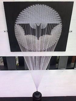 Geek Art Gallery: Crafts: Bat-Signal String Art