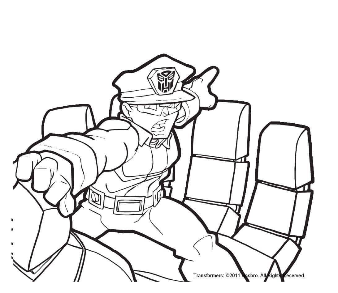 Rescue Bots Police Coloring Page