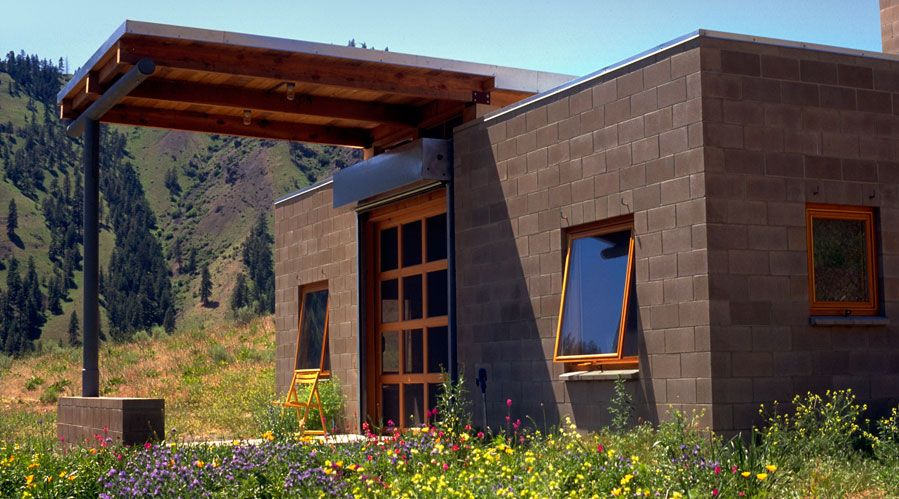 marvelous concrete block building plans #3: Small Cinder Block Retreat - http://www.tinyhouseliving.com/small