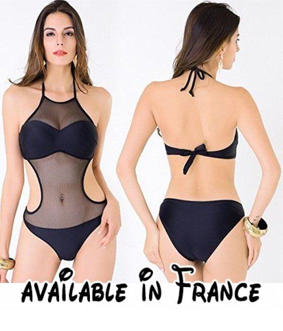 Thatch Maillot de bain pour femme Bikinis Maillots deux pièces Fashion Sexy,The black bar,3XL