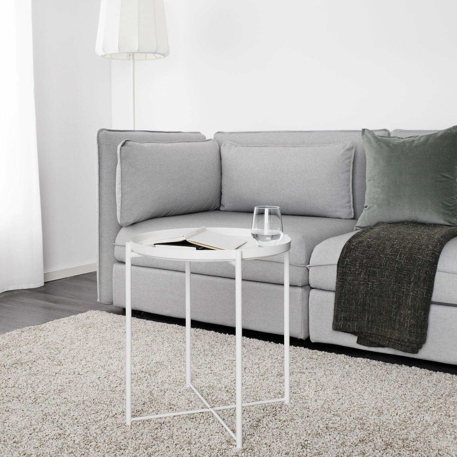 "GLADOM Tray table, white, 17 1/2x20 5/8"" IKEA in 2020"