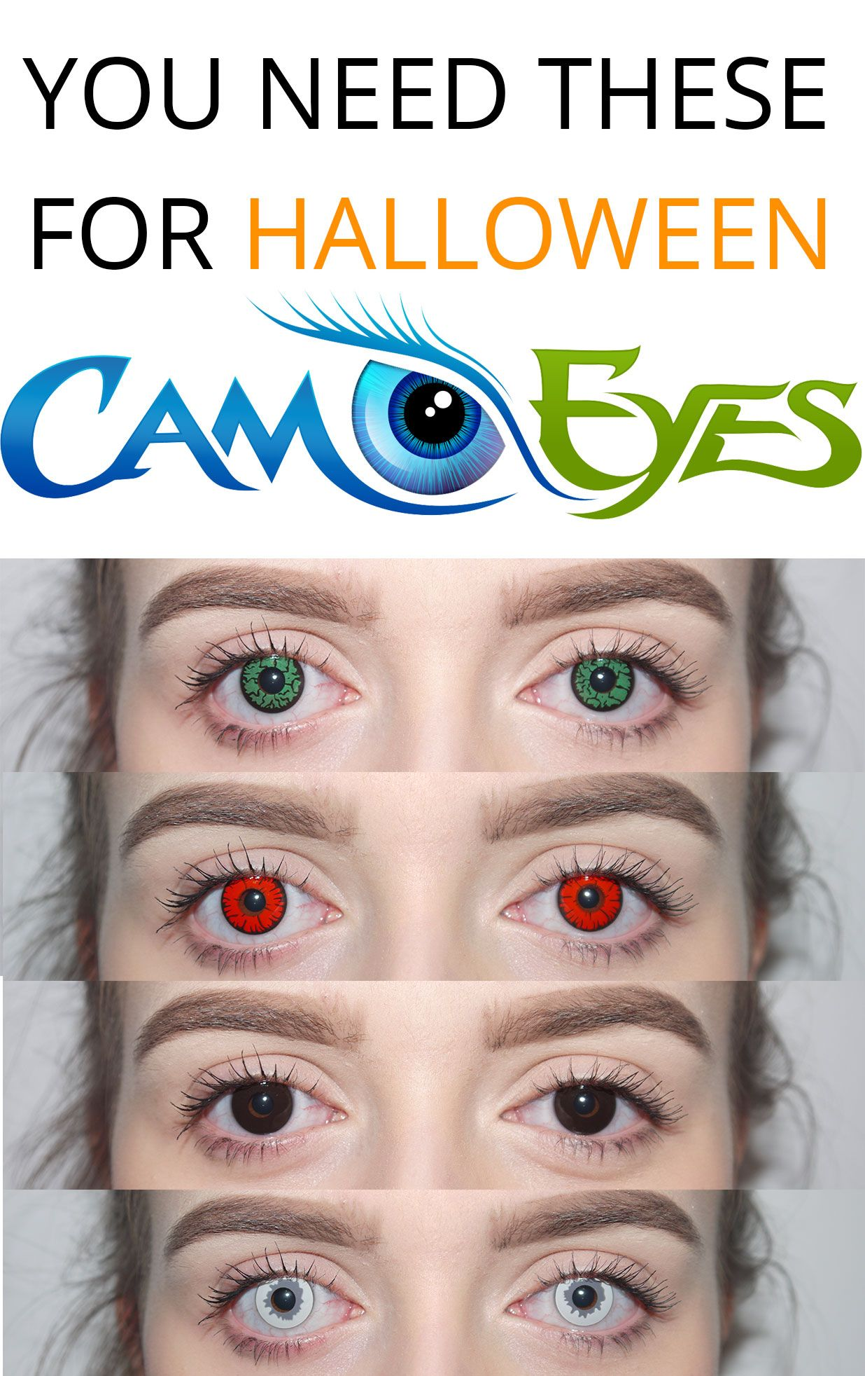 camoeyescom halloween contact lenses the ultimate halloween accessory your costume enhanced 10x