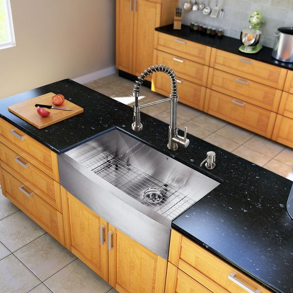 vigo all in one 36 inch farmhouse stainless steel kitchen sink and faucet set vigo all in one 36 inch farmhouse stainless steel kitchen sink and      rh   pinterest com