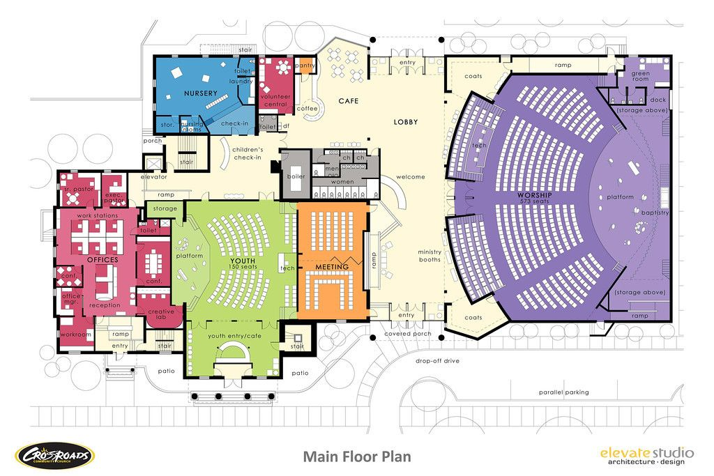 How to design a church building church design for Floor plan church