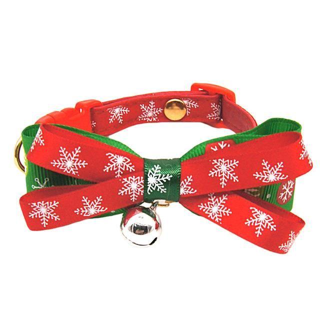 Christmas Dog Cat Pet Bow Tie adjustable Necktie Collar Bowtie Christmas Pattern