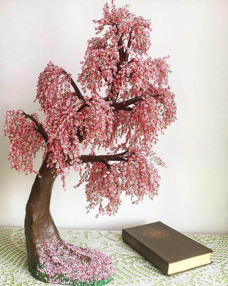 Large Cherry Blossom Bonsai Tree Live Bonsai Tree Tree Of Life Etsy Cherry Blossom Bonsai Tree Wire Tree Sculpture Japanese Tree