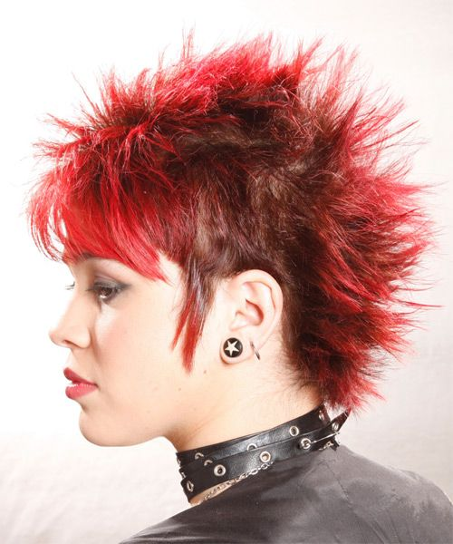 Alternative Short Straight Hairstyle Side View Hair Pinterest