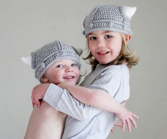 5764ccd9da2 Childrens Viking Helmet with Horns Toddler Hat Made with the same quality  yarns