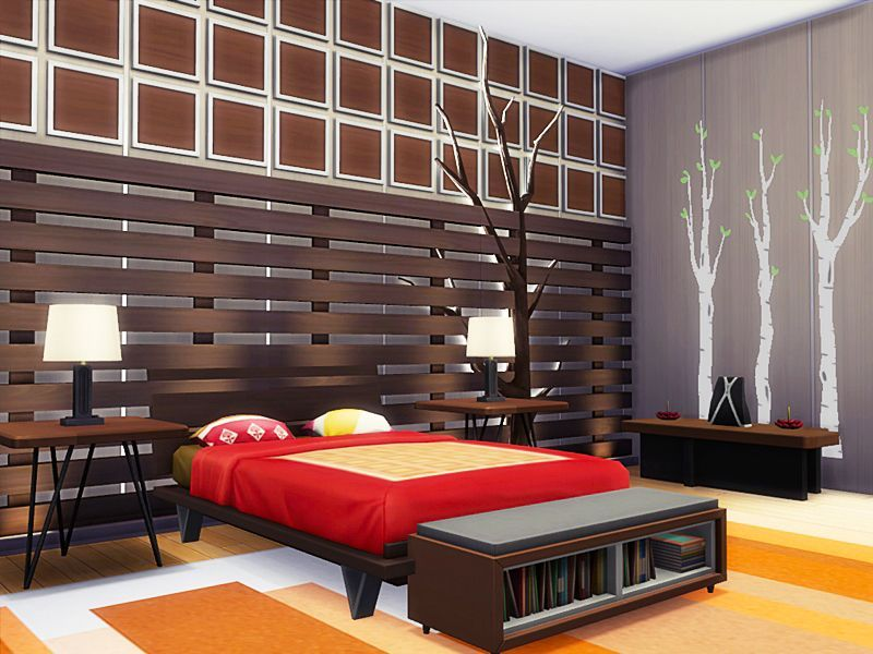 Sims 4 Bedroom Ideas No Cc Sims 4 Bedroom Modern Loft Sims 4 Houses