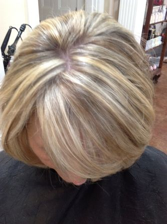 Auburn Base Color With Golden Amp Copper Highlights Service 6