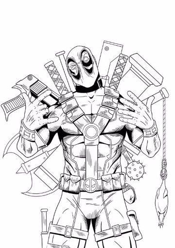 Imagenes De Deadpool Para Dibujar Animado Peliculas De Marvel