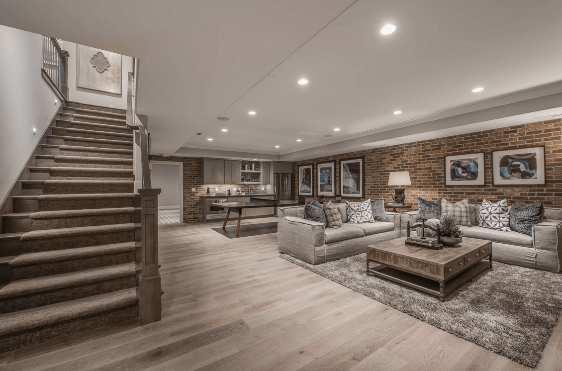 62 Finished Basement Ideas Photos Basement Living Rooms