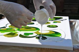 art by zhu: acrylic pouring tutorial / Anleitung zum Acryl-Gie...