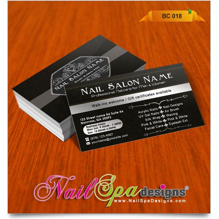 Luxury nails business cards crest business card ideas etadamfo business card for nail salon visit nailspadesignscatalog reheart Images