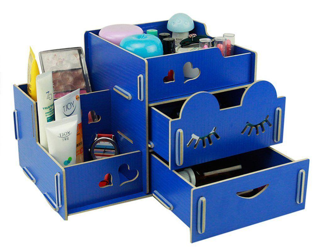 home office storage boxes. 亚马逊中国 - Menu Life Home Office Desk Tidy Box Jewellery Storage Organiser (Blue Boxes