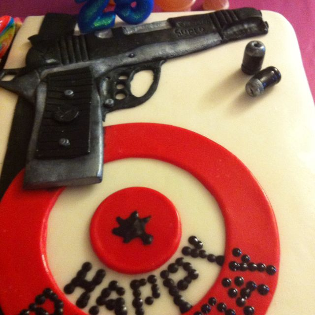 Gun Birthday Cake Cake Father S Day And Other Manly