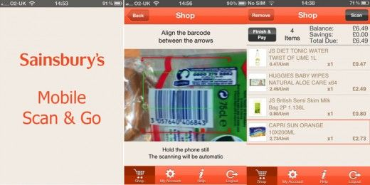 Sainsbury's tests 'Mobile Scan & Go' App for Mobile