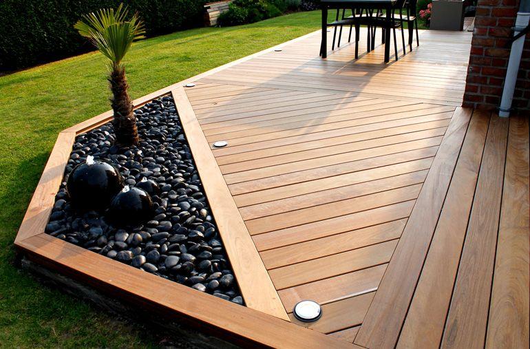 Faire les finitions de ma terrasse bois avec éclairage Idées pour - construire sa terrasse en bois soimeme