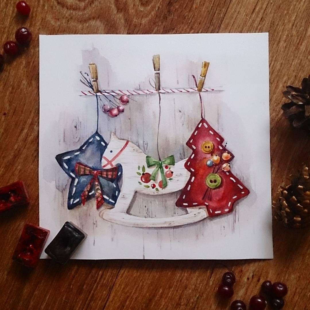 Новогодние открытки своими рисунки