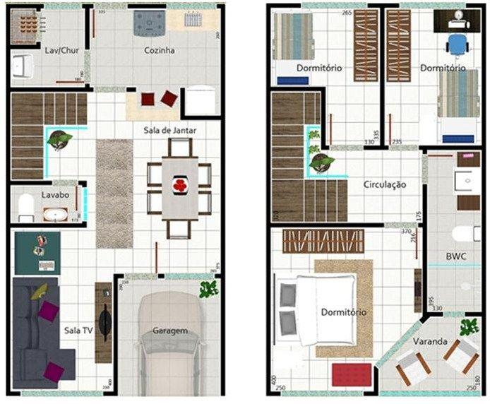 Plano de casa de dos pisos y 150 m2 casa wau pinterest for Casa moderna 150 m2